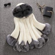 Women Top Brand Winter Warm Natural Genuine Mink Fur Long Coat Wholesale Hot Selling Multi Mix Colors Overcoat