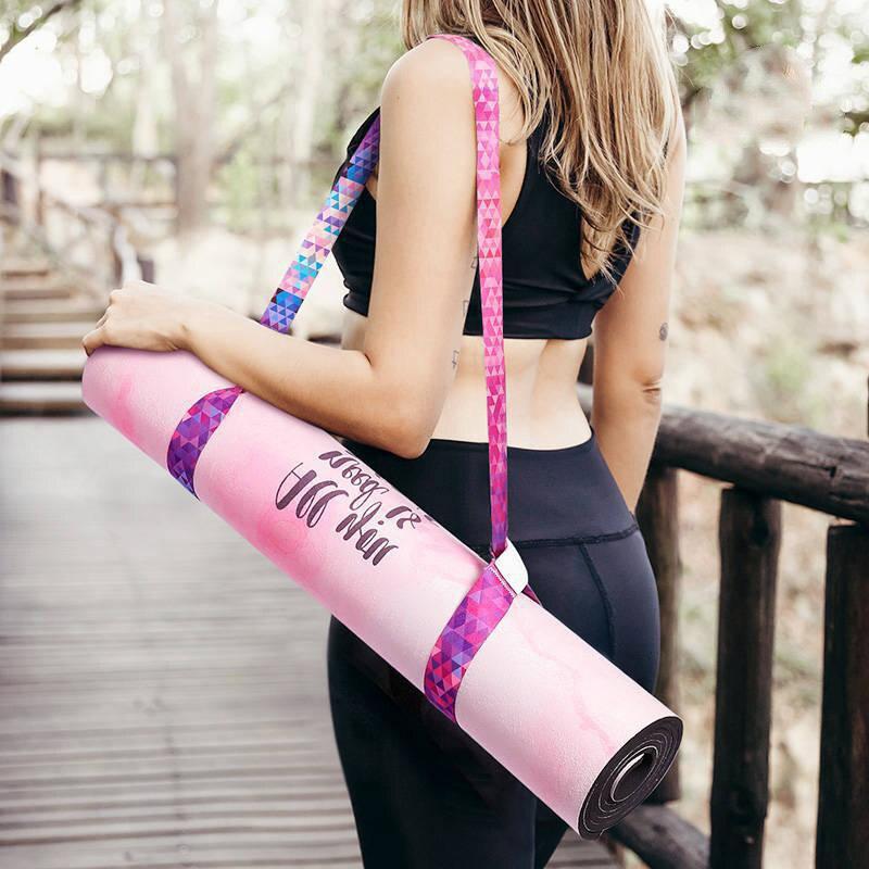 Yoga Mat Strap Adjustable Yoga Belt Sports Sling Carrier Shoulder Strap Belt Exercise Stretch Fitness Elastic