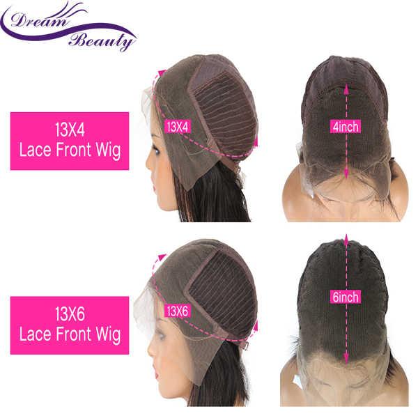 Dream Beauty podkreśla ludzkie włosy 13*6 koronkowa peruka z przodu 8-24 cali brazylijska Remy falista koronkowa peruka z ludzkich włosów