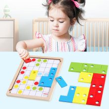 Childrens Tetris Cartoon Jigsaw Puzzle Logic Thinking Game Toddler Baby Intelligence Development Early Education Toys