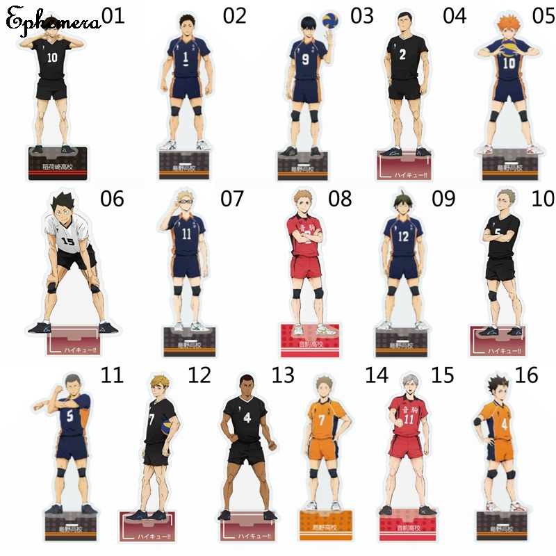 Haikyuu Hinata Kageyama Tsukishima Sugawara Family Acrylic Stand Figure Model Plate Holder Topper Anime Karasuno Xmas Gifts