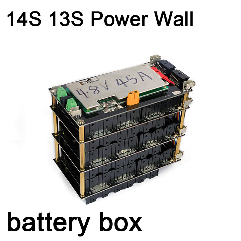 DYKB 14S 13s 48V Power Wall Battery Pack 13 14 CELL Battery Box Li-ion Lithium 18650 Battery Pack BMS 20A 45A Protection Board