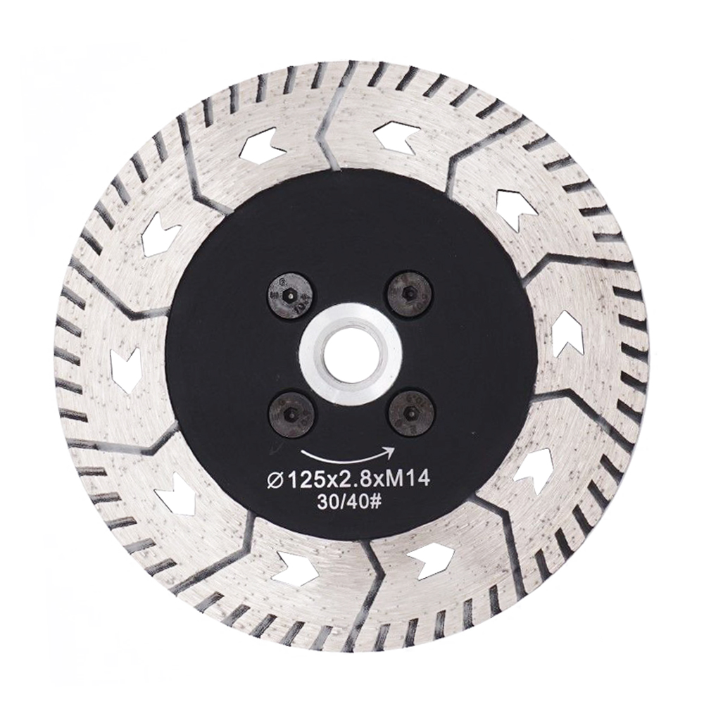 1PC 125mm Diamond Cutting Grindng Disc Dual Blade Cut Grind Sharpen Granite Marble Blades Concrete