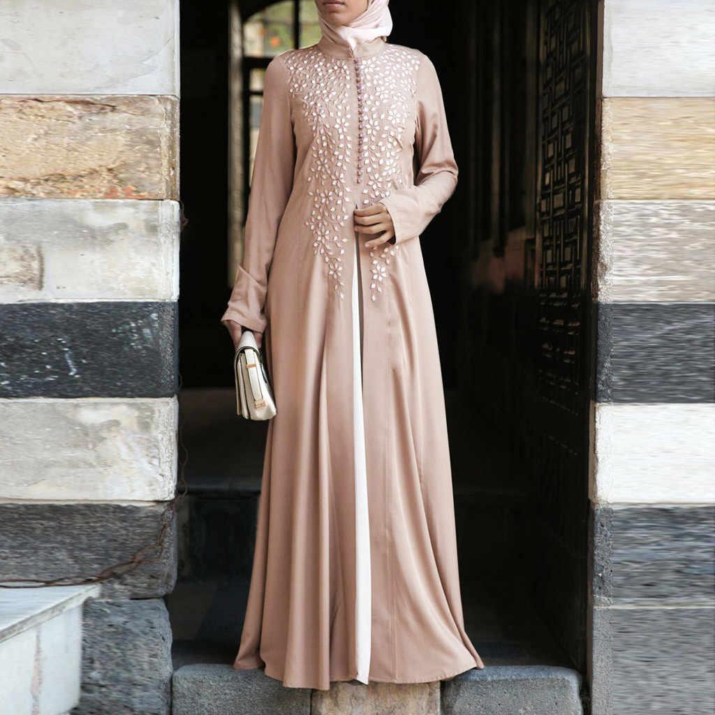 Dubai Kaftan Kleid Muslim Party Abaya Frauen Arabisch Spitze