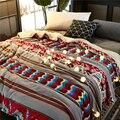 Зимнее теплое шерстяное одеяло кашемировое флисовое толстое одеяло супер мягкое пододеяльник на кровать многофункциональные квадратные м...