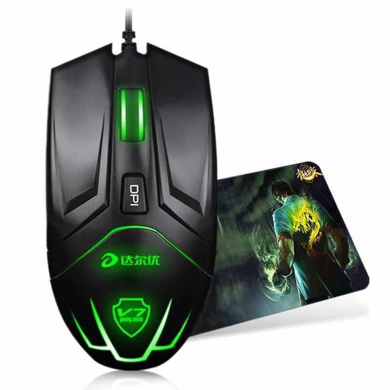 Xq новый игровой клавиатурой с подсветкой Мышь 2000 Точек на