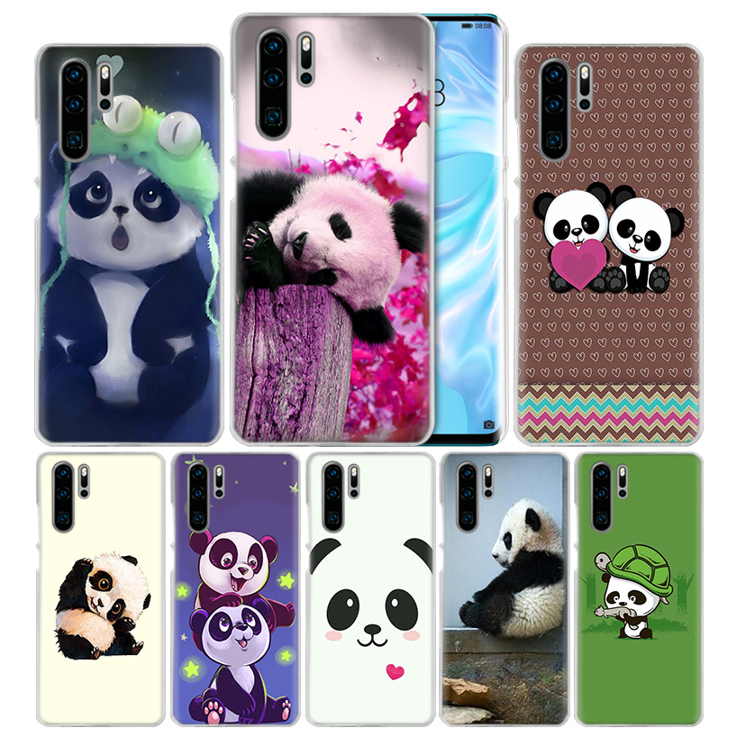 Case Cover For Huawei Honor P20 Mate 20 10 P10 P9 P8 8X 9 Lite P Smart + Plus 2017 2019 Nova 3i Clear Cute Animal Panda Fundas-in Half-wrapped Cases from Cellphones & Telecommunications