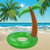 120*130cmAdult coconut Green Inflatable Swimming Ring Adult Kids Inflatable Pool Float Circle Water Beach Fun Toy