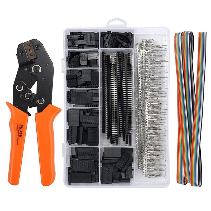 Dupont Crimping Tool Pliers Terminal Ferrule Crimper Wire Hand Tool Set Terminals Clamp Kit Tool SN-28B+1550Pcs Connector