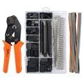 Dupont pince à sertir la règle des bornes  outil de sertissage des bornes ensemble d'outils à main à sertir le fil des bornes kit de serrage de la pince outil + 1550 pièces Pinces Outils -