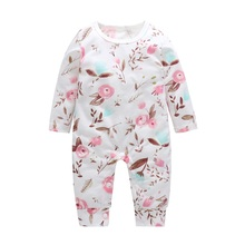 Baby Clothes Boys Girls Romper Printed Long Sleeve