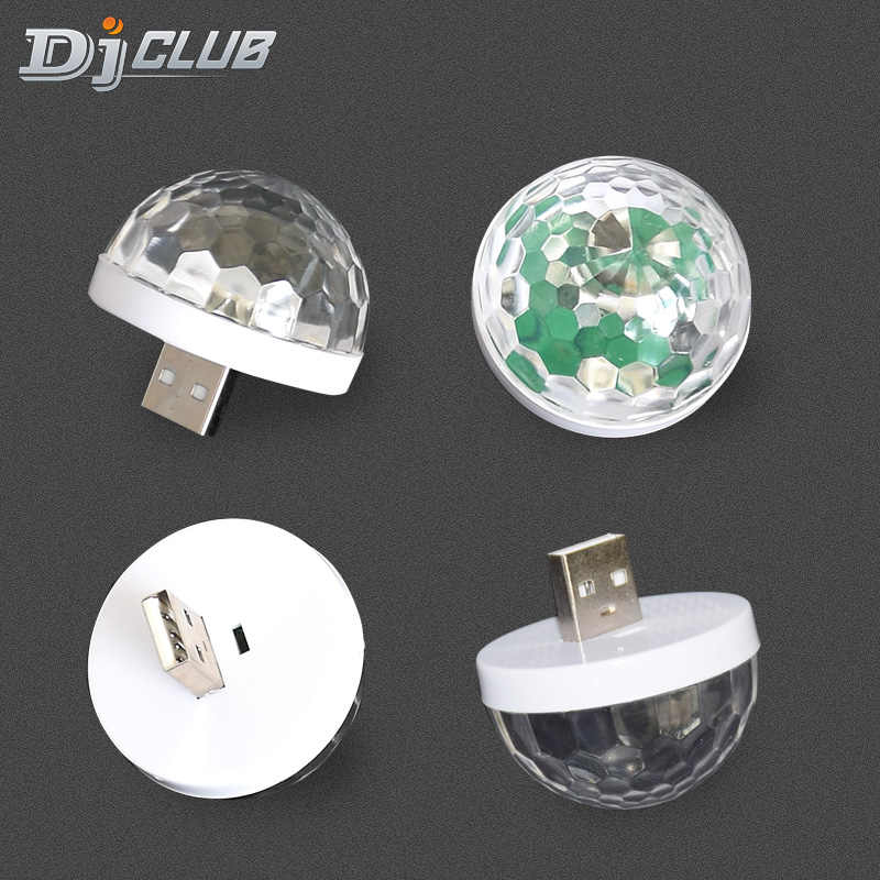 RGB Mini USB LED Del Partito di Luci Portatile di Controllo del Suono Sfera Magica 3W Mini DJ Colorato Magia Della Fase Della Discoteca Luci per il Mobile