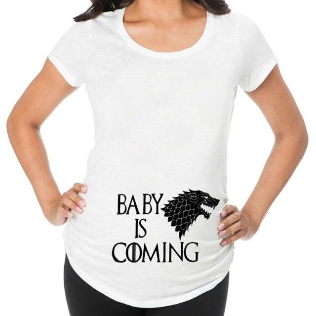 Camisetas de maternidad divertidas de talla grande 3
