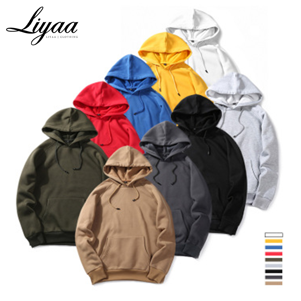 Liyaa Fashion Brand Hoodies Men 2020 Autumn Male Casual Solid Color Hoodies Sweatshirt Male Hip Hop Streetwear Hoodie Top Mens