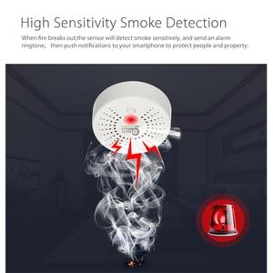 Image 4 - NEO Coolcam חכם עשן גלאי WIFI אלחוטי עשן חיישן אבטחת בית אזעקה מערכת 90db גבוהה טמפרטורת של אזעקה