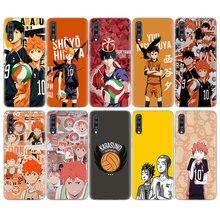 Anime Haikyuu Vôlei Pele de Silicone Caso Para Samsung Galaxy A51 A71 A50 A70 A20 A30 A40 A10 A20E J4 J6 A6 A8 A7 A9 2018 Tampa