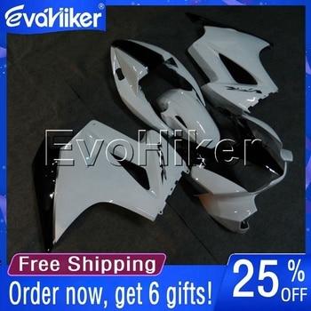 Custom motorcycle cowl for VFR800 2002-2008 ABS fairing motorcycle bodywork kit white +gifts