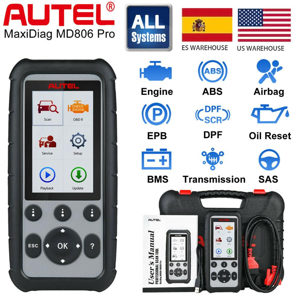 Autel MD806 Pro All System Auto Diagnostic Tool, Code Reader Scanner Full System Diagnoses EPB/Oil Reset/BMS DPF VS MD805 MD802 image