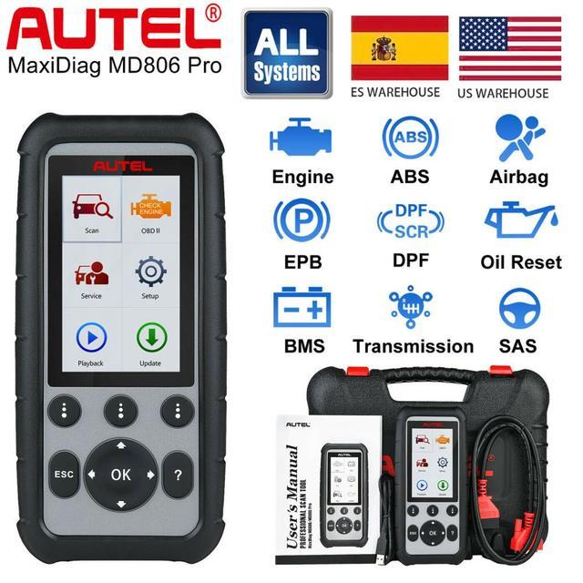 Autel MD806 Pro Tất Cả Các Hệ Thống Tự Động Công Cụ Chẩn Đoán, mã Máy Quét Toàn Hệ Thống Chẩn Đoán EPB/Tinh Dầu Thiết Lập Lại/BMS DPF VS MD805 MD802