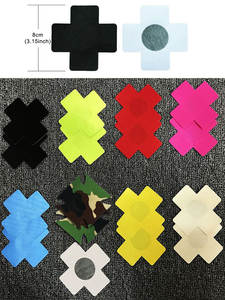 Self-Adhesive Nipple-Cover Pasties Experience Disposable Sexy Choice 7-Colors Cross/X