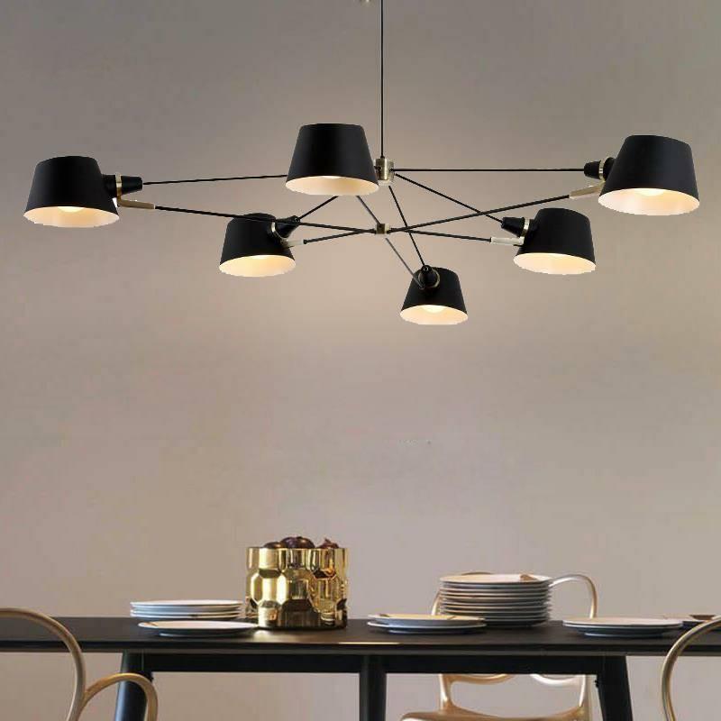 Image 2 - Nordic Chandelier Lighting/Lamp  Modern Living Room Hanging Light Fixture  Black Suspension Lamps For Dinning Room Bedroom-in Chandeliers from Lights & Lighting