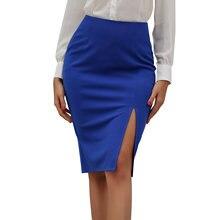 Популярная Европейская и американская Женская юбка средней длины