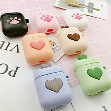 For AirPods Case Cute 3D Cartoon Kawaii Earphone Case For Airpods 2/i10/i11 TWS Soft Headset Protect Capa with Finger Ring Strap(China)