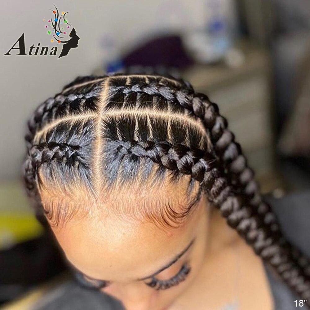 HD koronki przodu włosów ludzkich peruka prosto niewidoczne przezroczyste pełne koronkowe peruki Atina Frontal Remy zamknięcie peruka 150% pełna wstępnie oskubane
