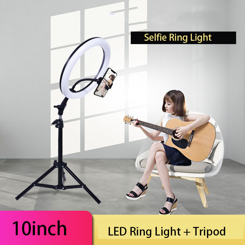 10inch USB Charge New Selfie Ring Light Flash Led Camera Phone Photography Enhancing Photography For Smartphone VK Video Makeup