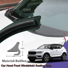 DIY Car Seal Strip Windshied Spoiler Filler Protect Edge Weatherstrip Strip Sticker Auto Accessories For Volvo XC40 2018-2020