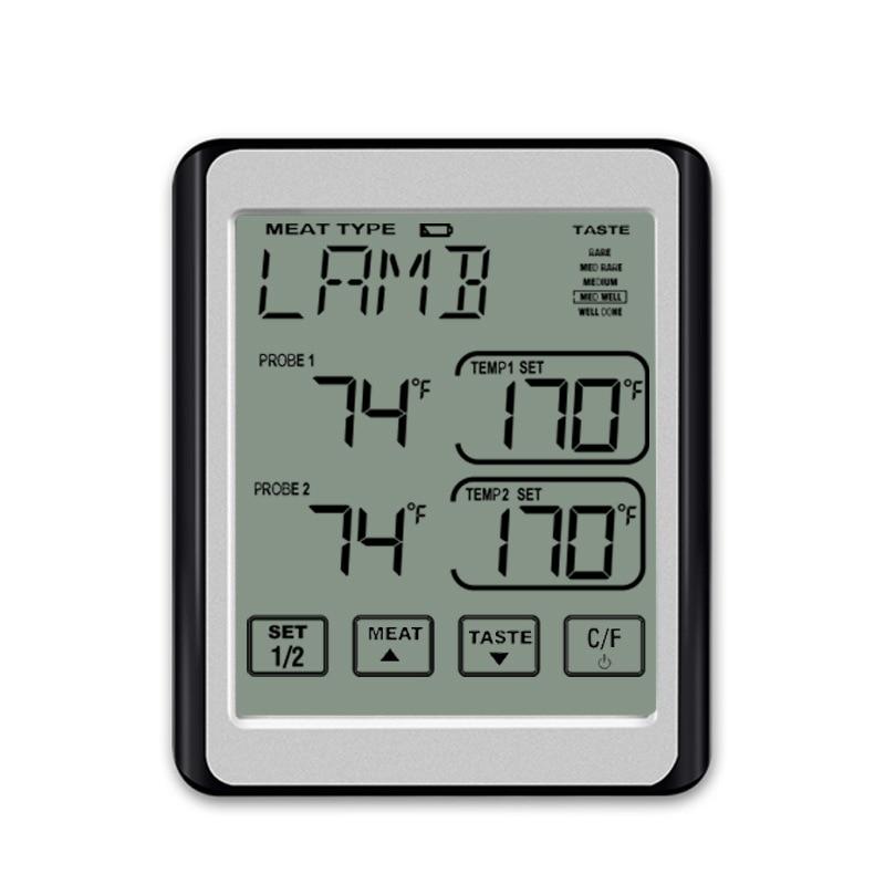 Термометр для мяса двойной зонд цифровой мгновенный термометр для барбекю для духовки кухонный гриль