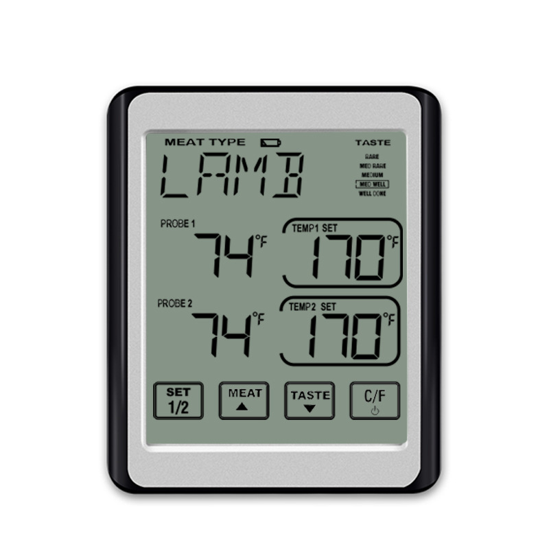 Meat Thermometer Dual Probe Digital Instant Bbq Thermometer For Oven Kitchen Grilling