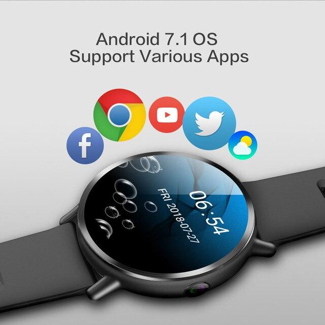 DM19 Smart Watch Men 4G Andriod 7.1 8.0MP Camera MTK6739 Quad Core 16GB Rom Fitness Tracker IP67 Waterproof Wifi GPS Smartwatch 3