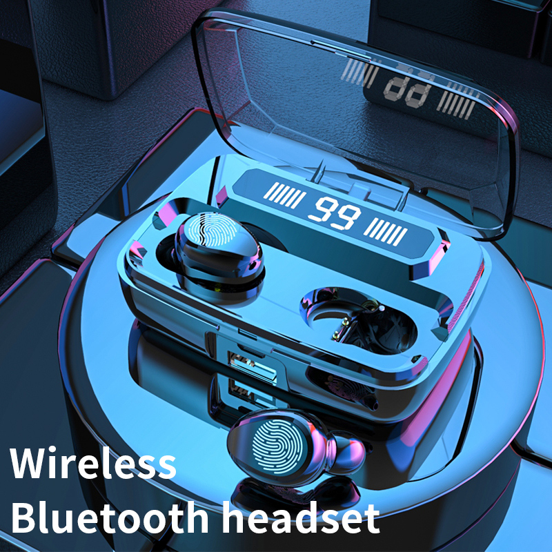 Original F9 Wireless Headphones TWS Bluetooth5 0 earphone HiFi IPX7 Waterproof earbuds Touch Control Headset for sports  game