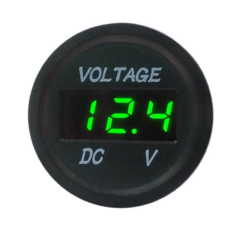 5-48V Digital Green LED Display Voltmeter Electric Voltage Meter Waterproof Volt Tester For Auto Battery Car Motorcycle Ship