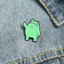 Brooch-Collar Clothing Backpack Pin Metal Badges Frog Broches Jewelry Funny Enamel-Pins