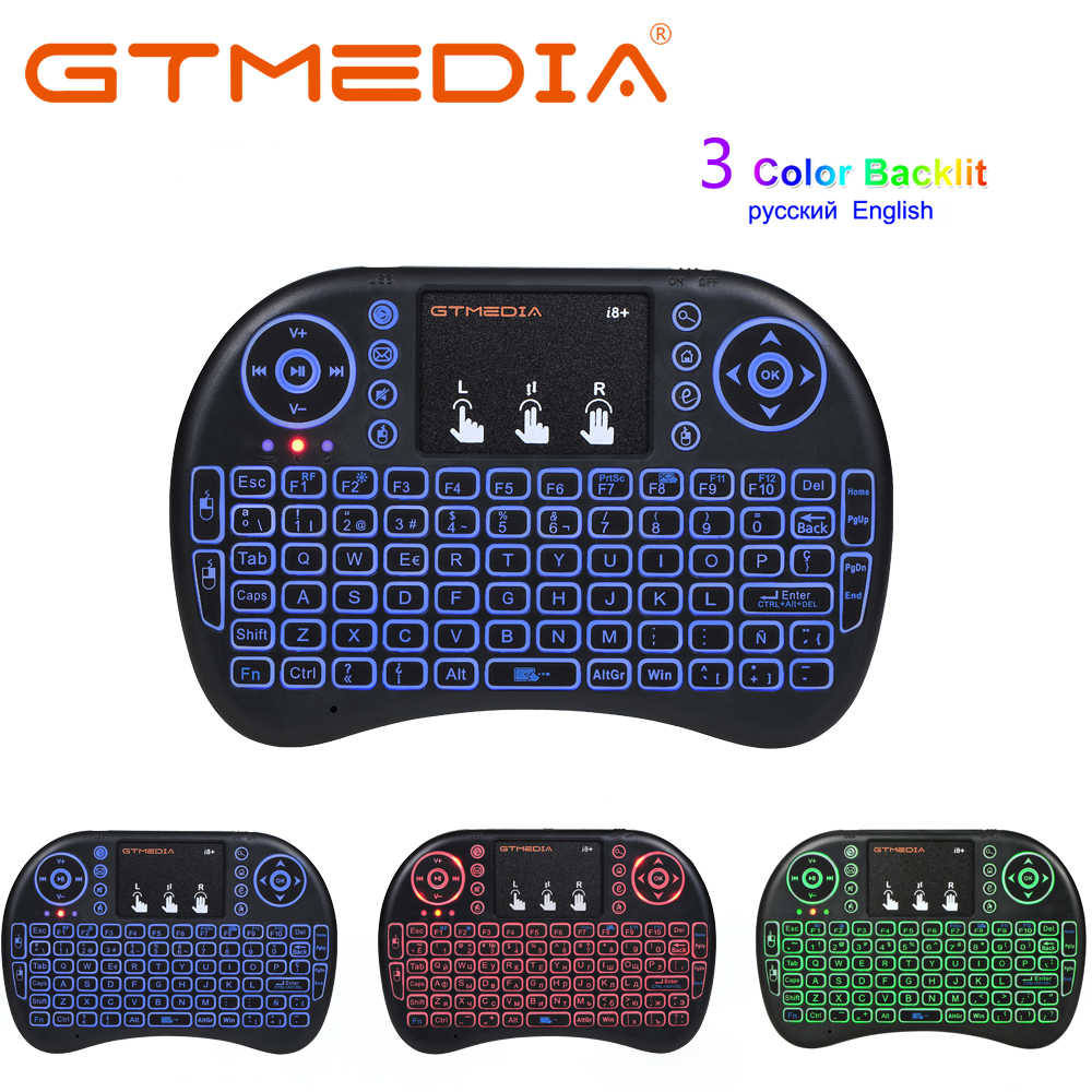 Gtmedia Russische Mini I8 Wireless Keyboard Engels Brief Air Muis Afstandsbediening Touchpad Voor Android Tv Box Notebook Tablet Pc