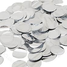 30g festa de casamento lance confetes folha de alumínio pequeno círculo disco lantejoulas onda transparente bola decoração balão acessórios