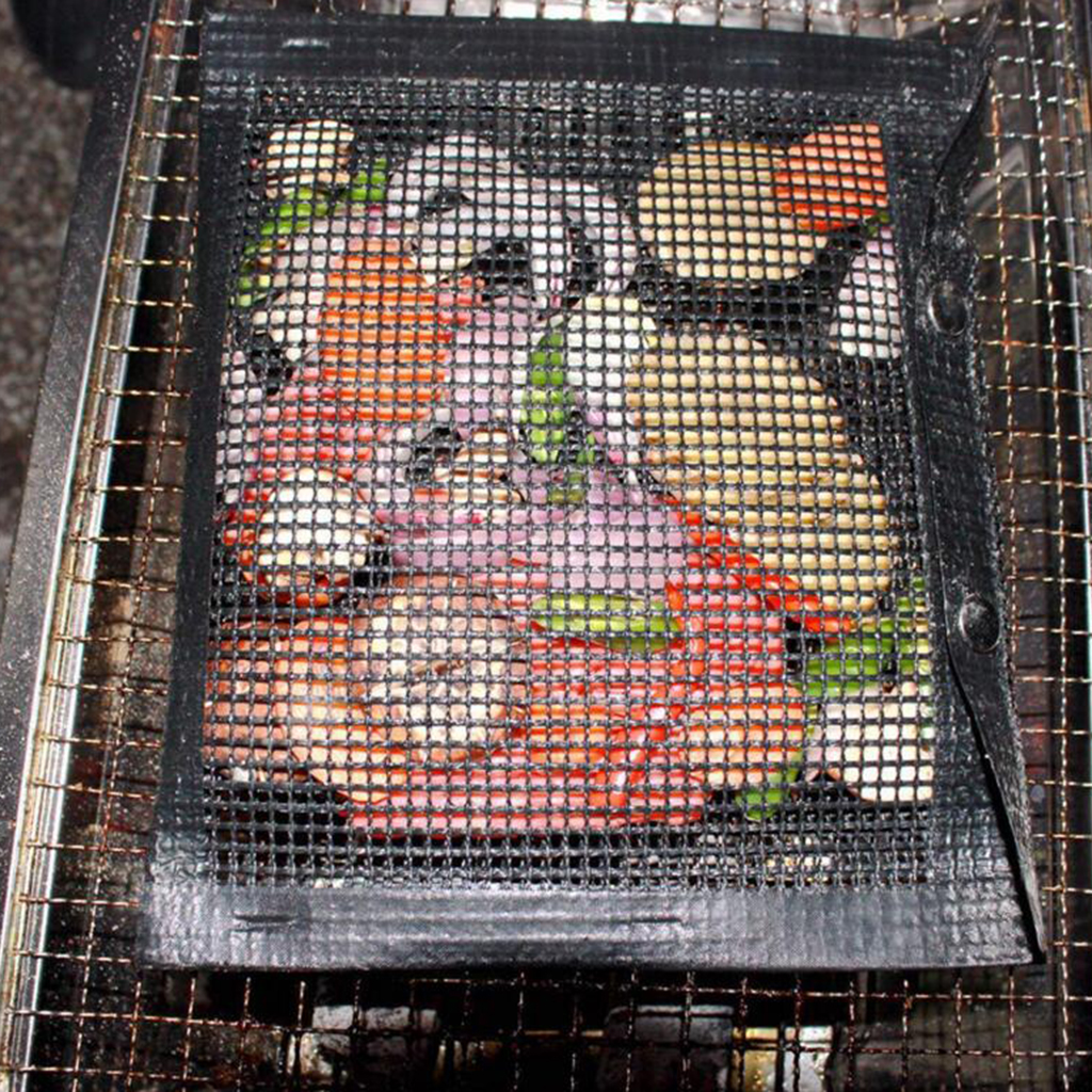 Non-Stick Mesh Bag For Grill, PTFE Bags Barbecue Pockets Sheets