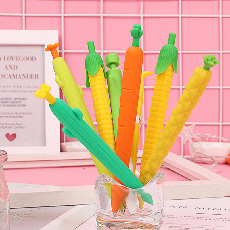 1PC 0.5/0.7mm Lovely Cute Carrot Mechanical Pencils Kawaii Cactus Automatic Pencils For Kids Gifts School Office Supplies
