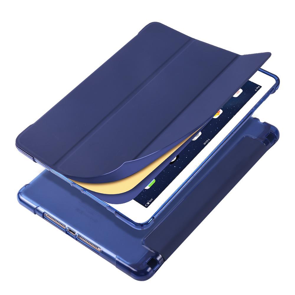 Dark Blue MULTI Case for iPad Pro 12 9 2020 A2229 A2069 A2032 A2233 Case Multi Fold PU Leather