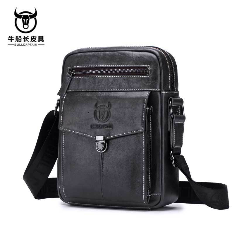Genuine Leather Package Male Head Layer Cowhide More Function Will Capacity Single Shoulder Satchel  Men Bag Briefcase Sac Homme