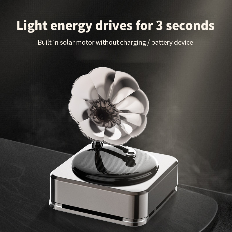 Auto Lufterfrischer Solar Antike phonographen stil Energie Rekord Player Rotierenden Parfüm Duft Für Autos Zubehör Innen