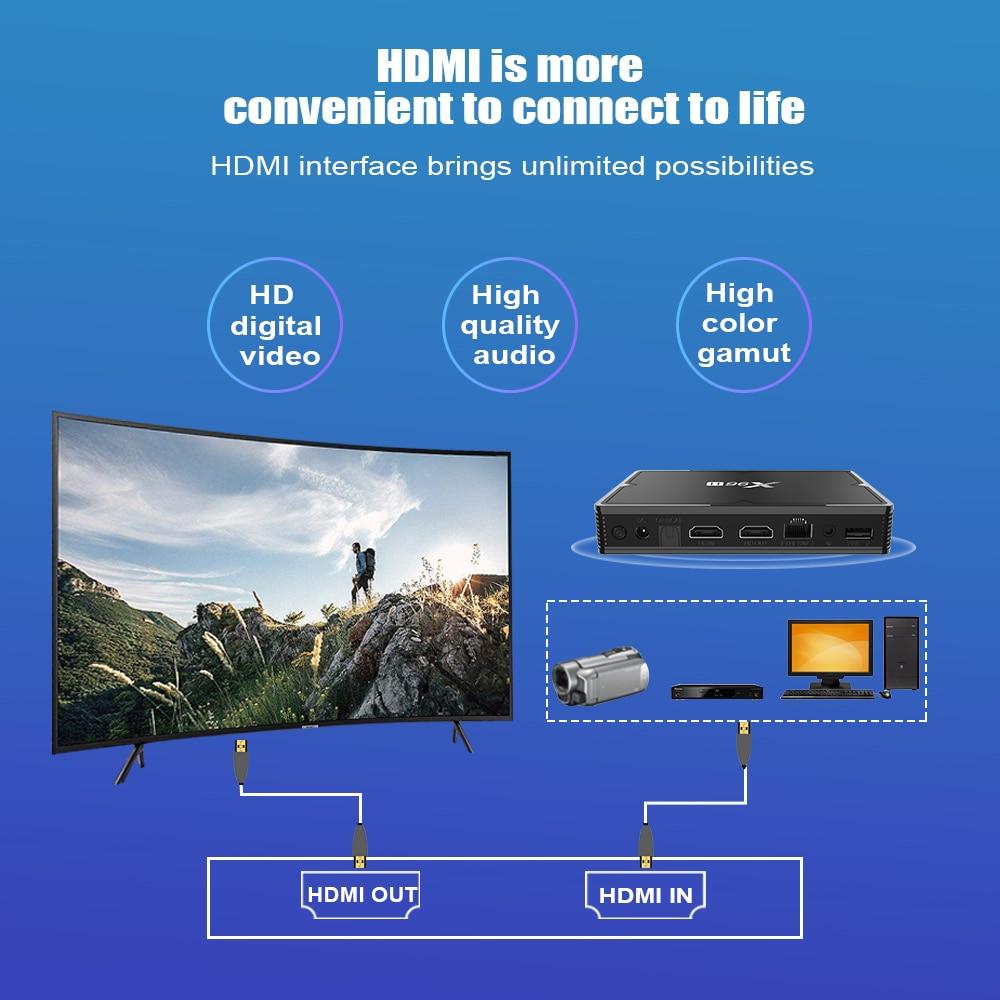 Image 4 - X96 H Mi ni Smart tv Box Android 9,0 IP tv MI телеприставка 6K 2gb 4gb 16gb 32gb 64gb четырехъядерный медиаплеер PK HK1 MAX H96 A95X-in ТВ-приставки from Бытовая электроника