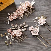 Hairpin Headwear Combs Hair-Accessories Wedding-Crown MOLANS Prom-Bridal Gold Elegant