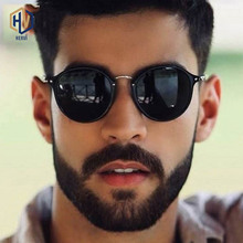 LeonLion Round Retro Sunglasses Men Brand Designer Fashion