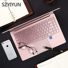 14'' J4105 Portable Laptop 8G RAM High Speed SSD Business Office Metal Notebook Rose Gold IPS