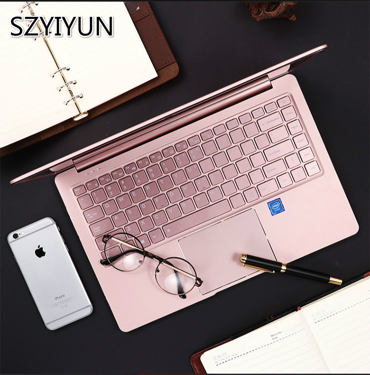 2020 New 14'' J4105 Portable Student Laptop 8G RAM High Speed SSD Business Office Metal Notebook Rose Gold IPS Computer Netbook