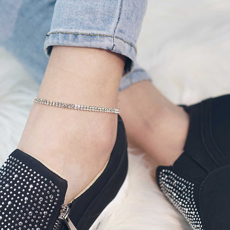 1 個ファッションアンクレットの靴アクセサリークリスタル靴の装飾女性の靴光沢のある装飾アクセサリー