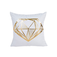 floral diamond pattern white golden sweet sofa cushion cover 45*45cm no inner hot stamping pillow X17